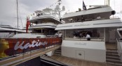 60m Brodosplit superyacht KATINA on display at the Monaco Yacht Show 2015
