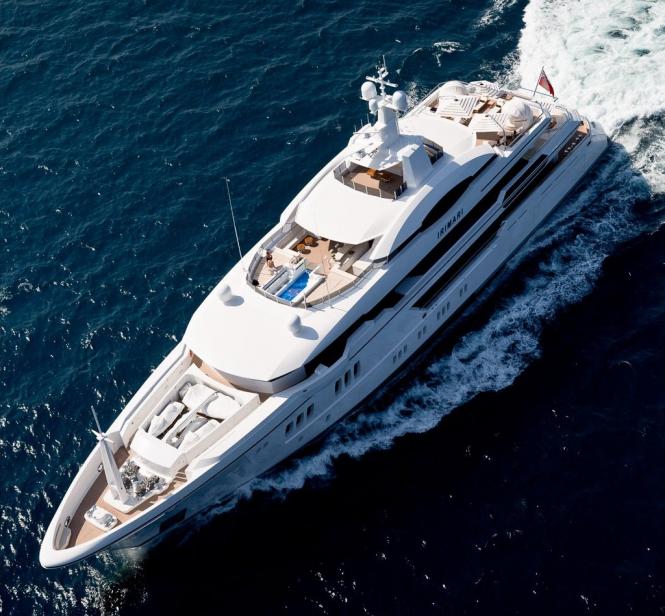 60m Sunrise Yacht IRIMARI from above