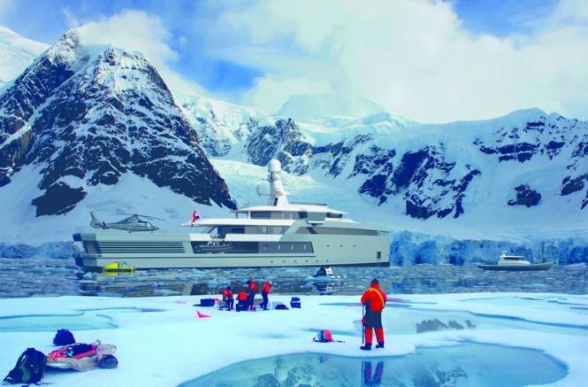 65m DAMEN SeaXplorer expedition yacht in Antarctica