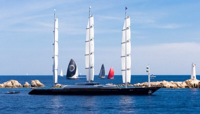 88m charter yacht The Maltese Falcon at Perini Navi Cup