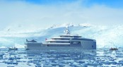 90m DAMEN SeaXplorer superyacht support vessel in Antarctica