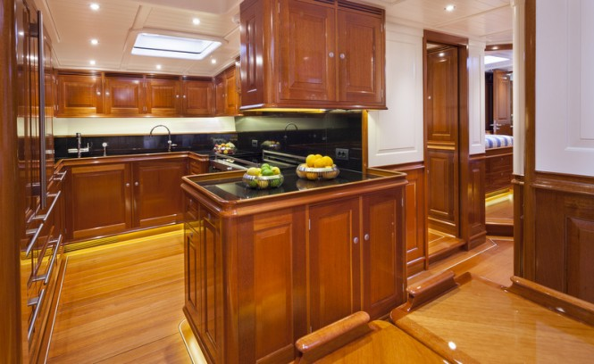 ATALANTE superyacht - Galley and Crew Area - Photo by Silken