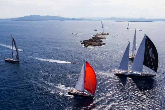 Aerial view of Perini Navi Cup