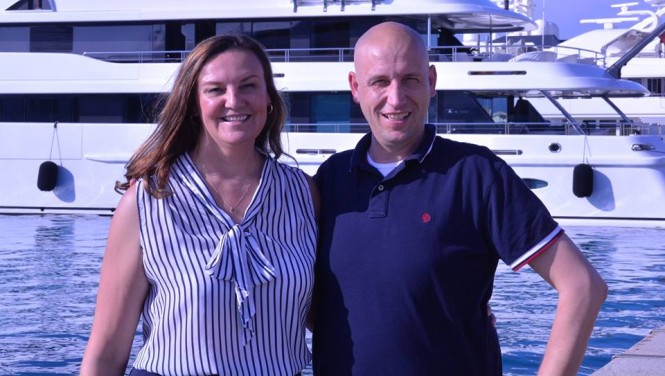 Alison Rentoul of The Crew Coach and Peter Vogel of International Yacht Services