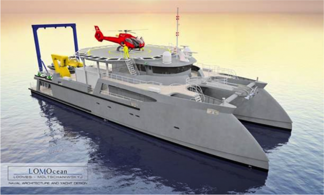 Atlas Superyacht Support Vessel by Diverse Projects
