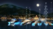 Christophe Harbour by night