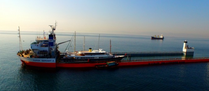 classic superyacht clarity on a cargo ship  u2014 luxury yacht