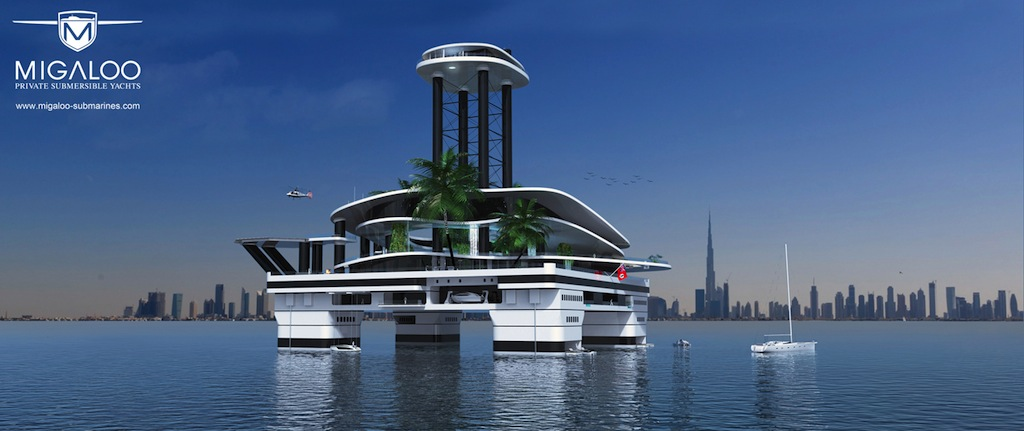 Extreme Luxury: a Private Floating Island KOKOMO AILAND to match your  Submersible Superyacht by MIGALOO