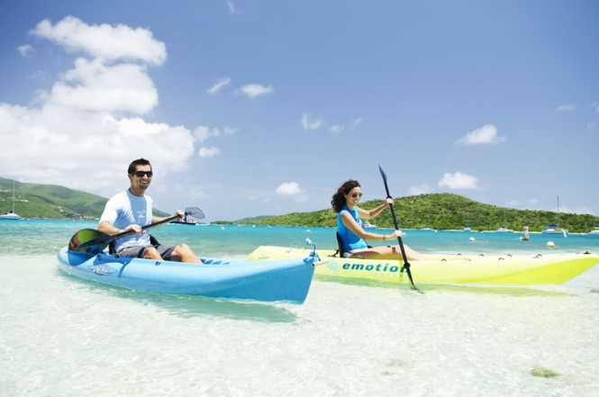 Kayaking in the BVI - Photographs © BVI Tourist Board