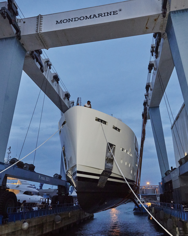 Launch of SF40 superyacht SERENITY