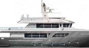 Rendering of Darwin Class 102' Yacht