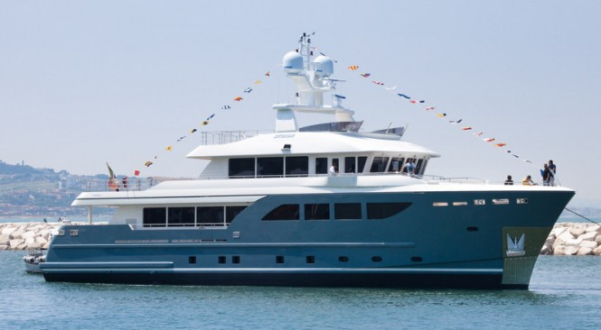 Luxury motor yacht STORM at launch