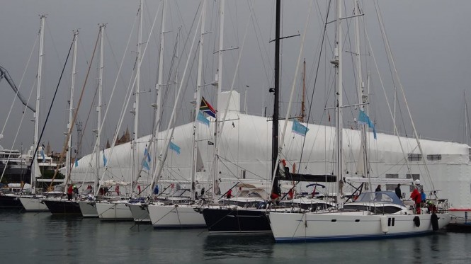 Luxury sailing yachts by Oyster ready to start Oyster Palma Regatta 2015 - Image credit to Oyster Yachts