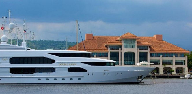 Luxury superyacht Double Haven in the Philippines, a fabulous Asia yacht charter destination