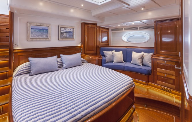 Luxury yacht ATALANTE - Master Cabin - Photo by Silken