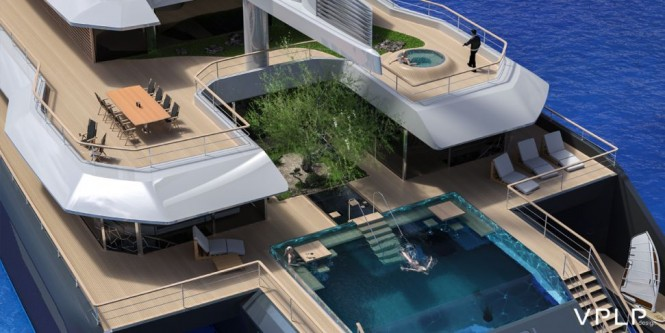 Luxury yacht KOMOREBI concept - Exterior