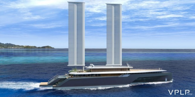 Luxury yacht KOMOREBI concept underway
