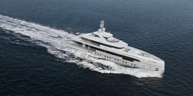 Luxury yacht NOVA from above