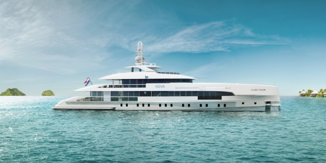 Luxury yacht NOVA - side view