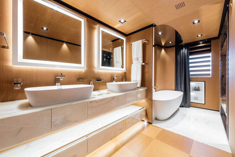 Luxury Yacht SUERTE Bathroom Luxury Yacht Charter Superyacht