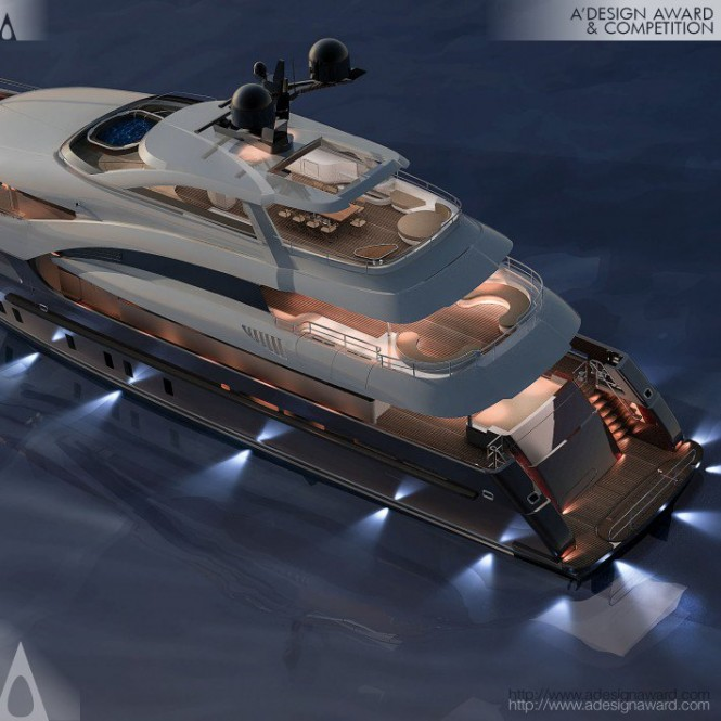 Luxury yacht Sarp 46m - Decks