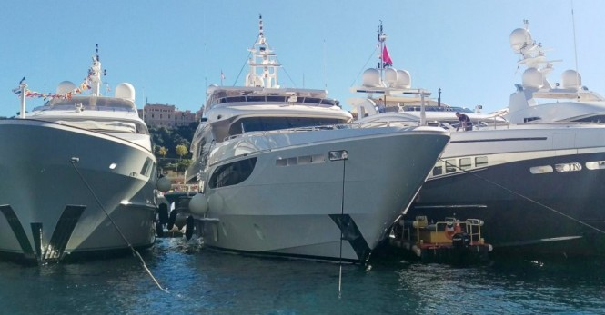 Majesty 135 Yacht JEWEL by Gulf Craft on display at the 2015 Monaco Yacht Show