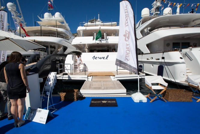 Majesty 135 motor yacht JEWEL on show at MYS 2015