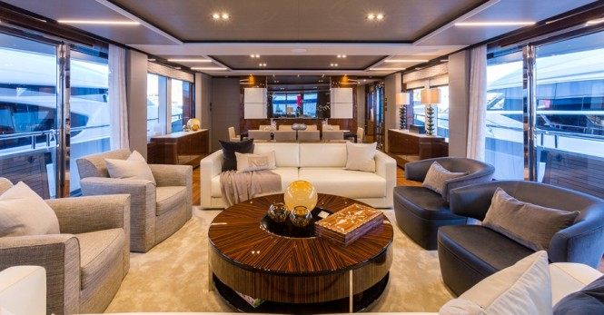 Motor yacht ANTHEYA II - Saloon