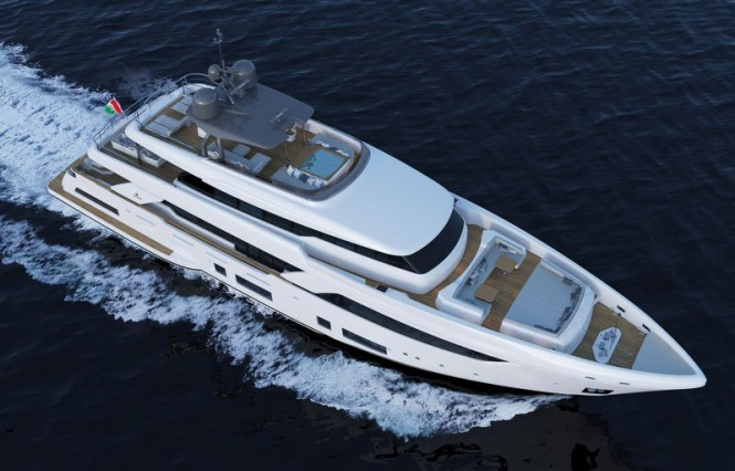 Motor yacht Navetta 37 from above