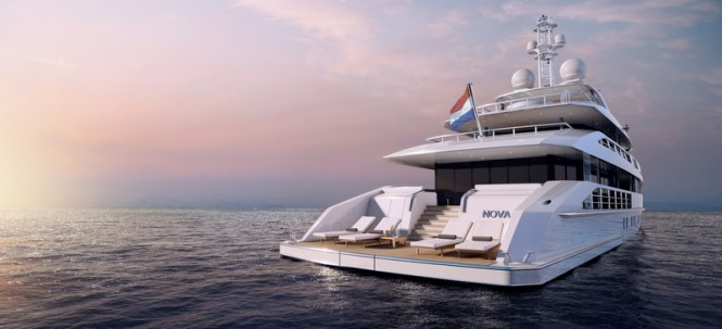 NOVA superyacht - aft view