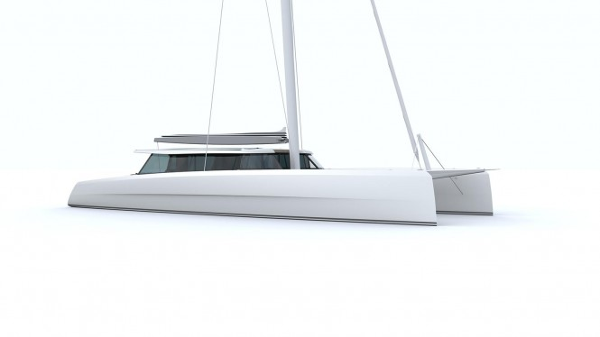 Rendering of Super Catamaran Vantage 86 by Vantage Catamarans Ltd
