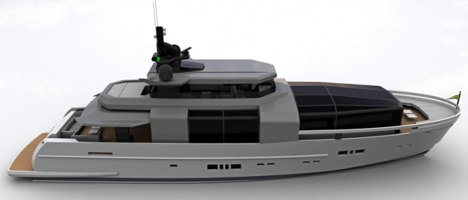Rendering of the first Arcadia 100 superyacht