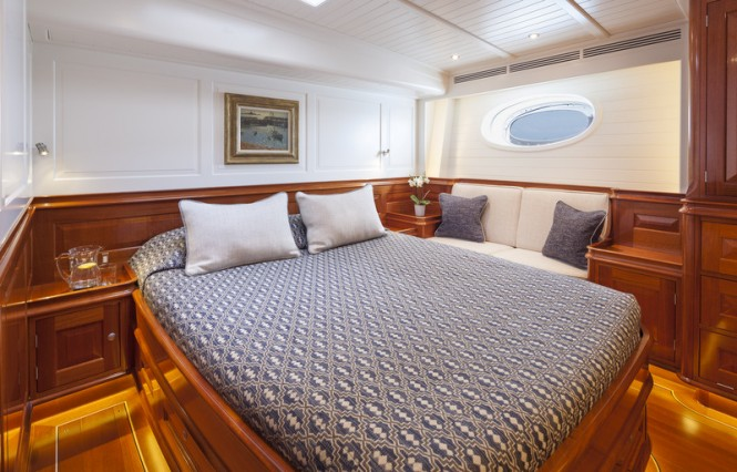 Sailing yacht ATALANTE - VIP Cabin - Photo by Silken