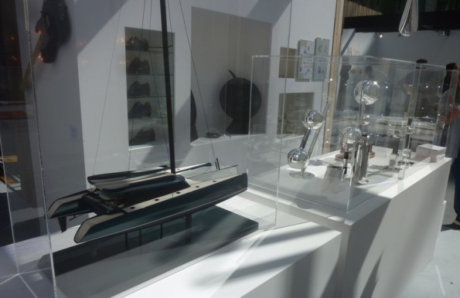 Scale model of VANTAGE 86 Yacht on display at the REVELATIONS Show in Paris