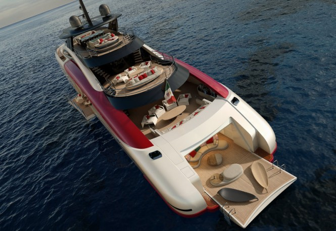 SeaFalcon Yacht Project - aft view