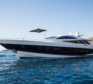 Party planning aboard Sunseeker Predator 108 Yacht ZULU