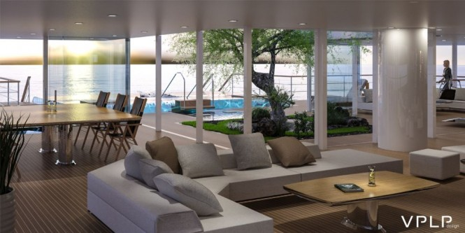 Super yacht KOMOREBI concept - Interior