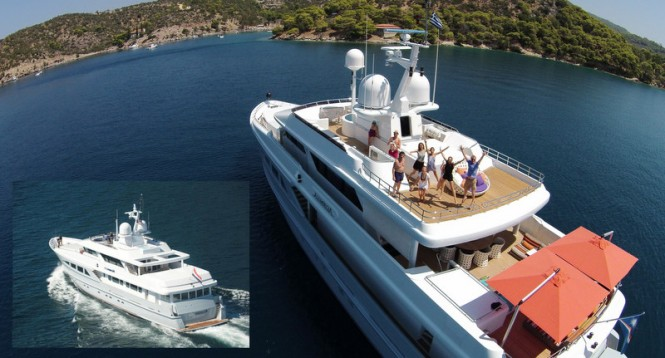 Superyacht AlumerciA exterior before and after refit