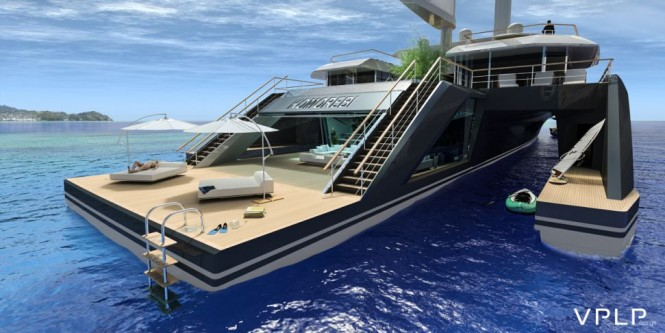 Superyacht KOMOREBI concept - aft view