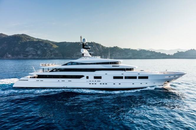 Tankoa S693 mega yacht SUERTE underway