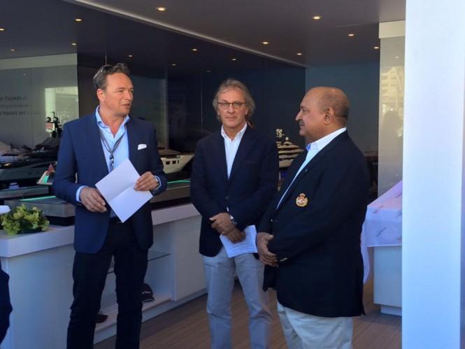 Unveiling of Vitruvius Acquaintance 105m at Monaco Yacht Show 2015