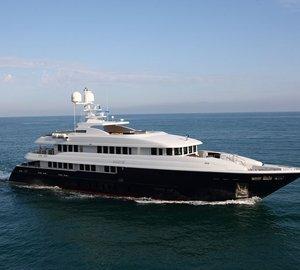 Beautiful 50m MONDOMARINE Charter Yacht ZALIV III Available for Eastern Mediterranean Yacht Rental this Winter