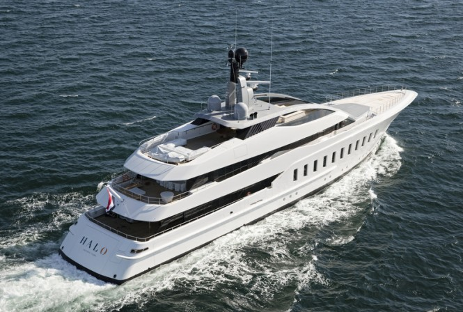 HALO superyacht - aft view