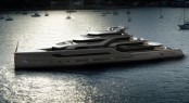 100m mega yacht BLADE concept by Ken Freivokh Design