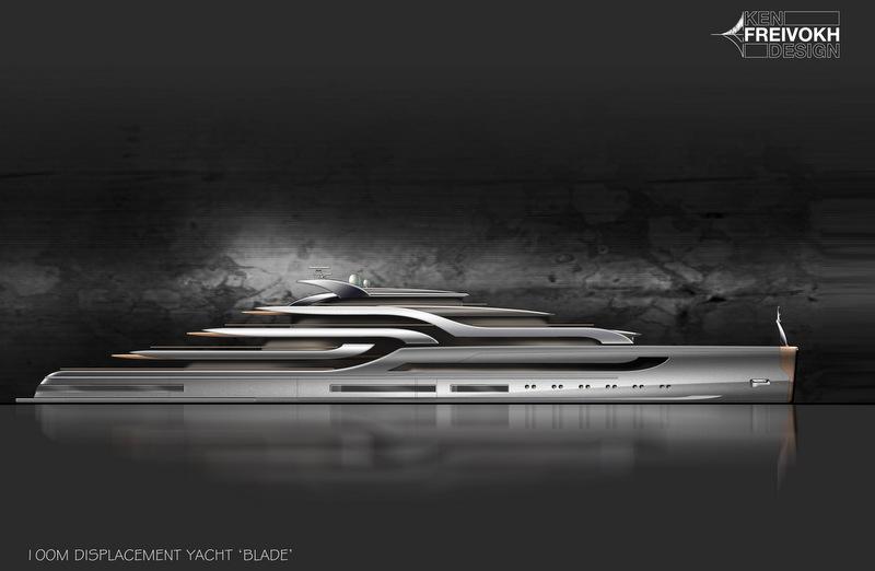 100m Super Yacht BLADE Concept