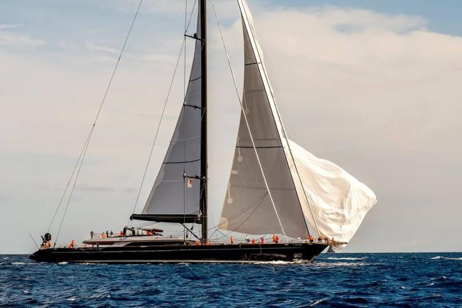 60m mega yacht PERSEUS3 - Image credit to Perini Navi