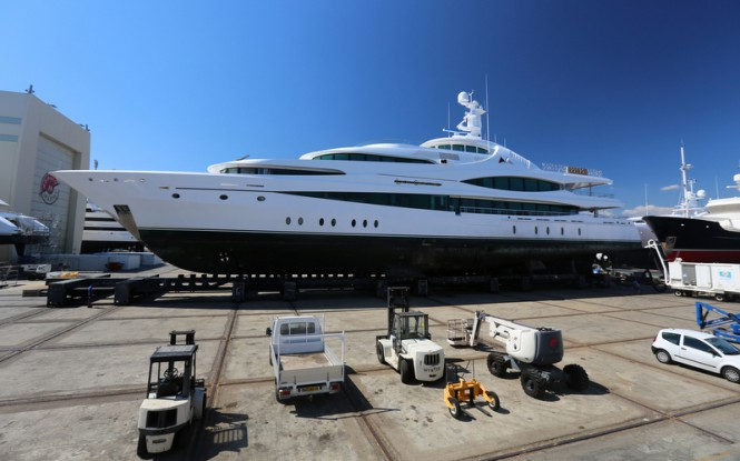 68m Feadship mega yacht LADY CHRISTINE at Monaco Marine La Ciotat