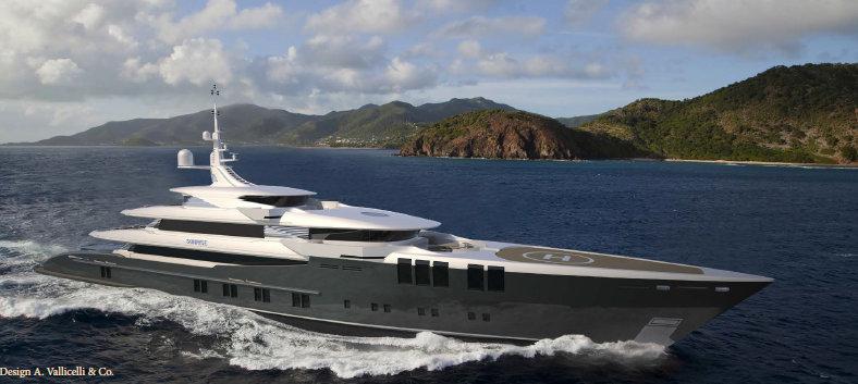 70m Mega Yacht ZENITH Project SKYFALL Hull 681 By Sunrise Yachts
