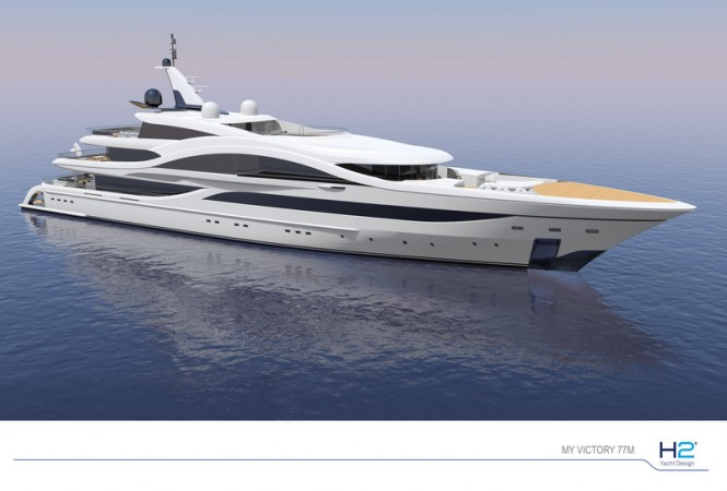 77m motor yacht VICTORY by Turquoise Yachts and H2 Yacht Design