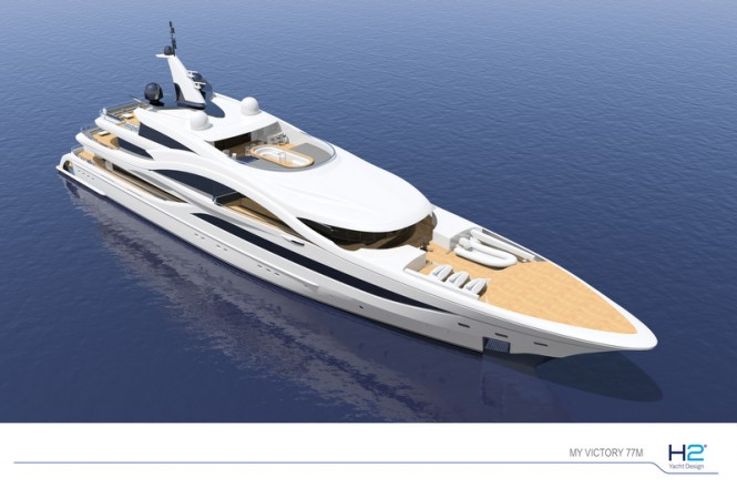 77m superyacht VICTORY from above